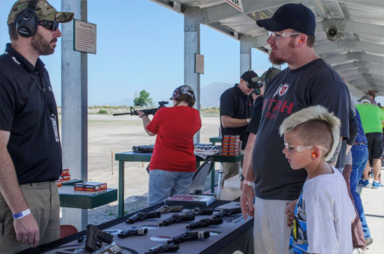 Sig Sauer offerings at Range Day