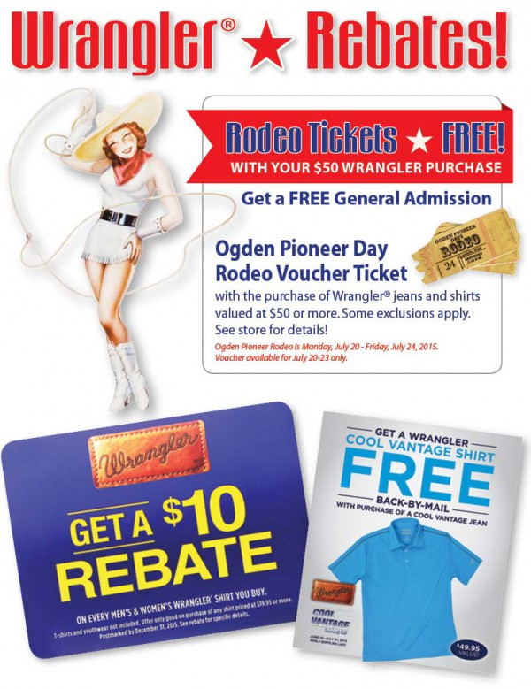 Smith & Edwards Wrangler Rebates for Ogden Pioneer Days