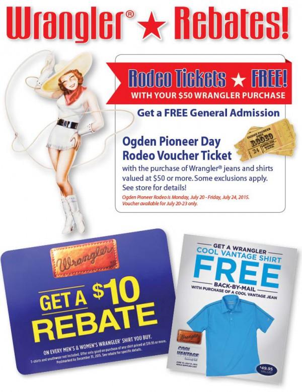 Smith & Edwards Wrangler Rebates for Ogden Pioneer Days