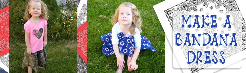 Make a Bandana Dress for your little girl in this fun sewing tutorial!