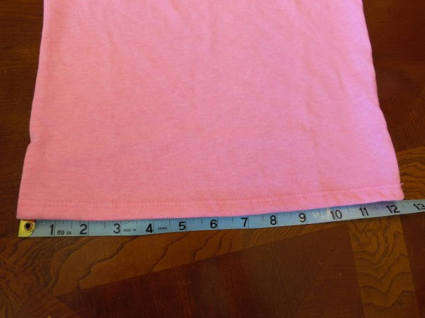 Measure the width of your tee shirt.