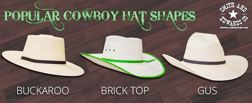 Buckaroo, Brick Top, and Gus styles you can shape your next hat with!