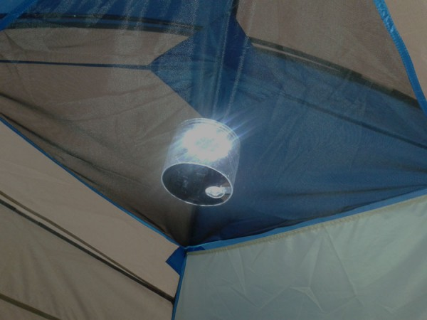Luci Lantern hangs easily in a tent