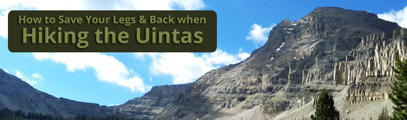 Get pain relief on your Uinta hike - the Uintas are the most beautiful place in all of Utah!