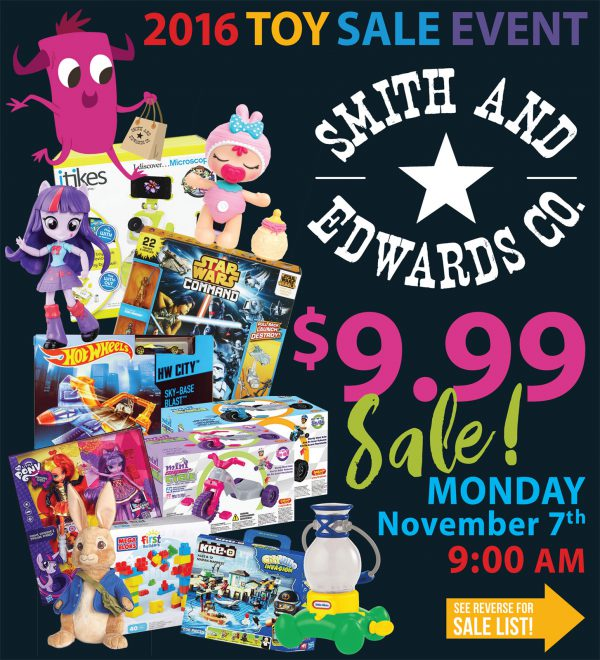 Smith & Edwards 9.99 Toy Sale