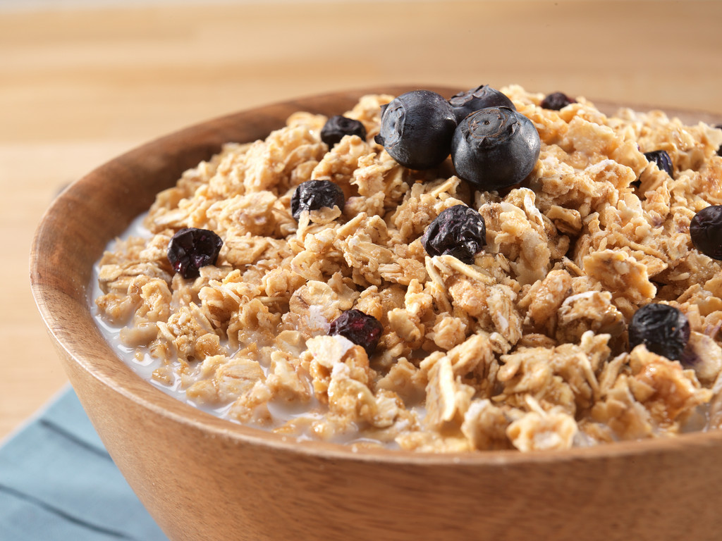 Image result for mountain house granola with milk and blueberries