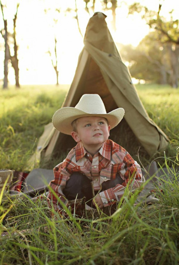 Colton in his straw cowboy hat