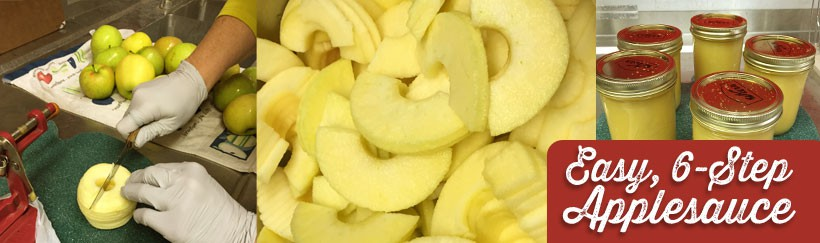 Six Steps to Home-Canned Applesauce!