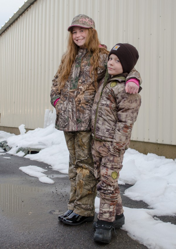 Sam and Emileigh modeling camo