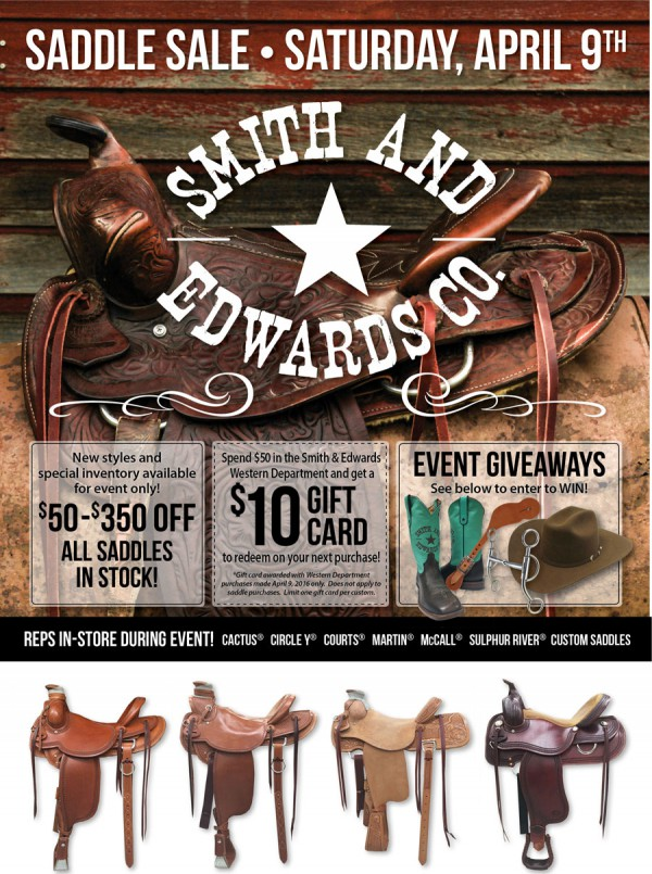 2016 Saddle Sale details at Smith & Edwards!