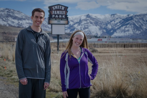 Brent and Jerica at Smith Family Park in Farr West, Utah