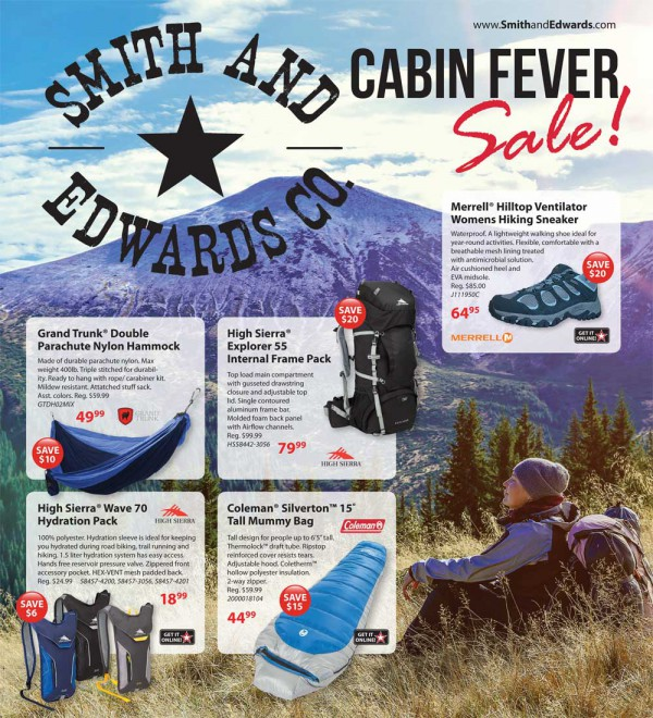 Smith & Edwards' 2016 Cabin Fever Sale