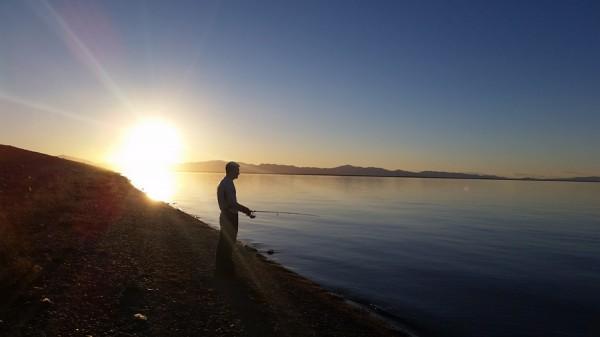Sunset at Willard Bay - photo by Curtis Carter