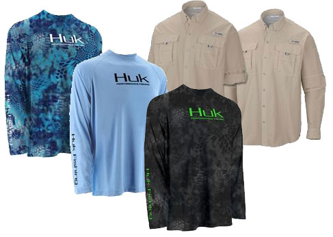 Columbia and Huk Fishing shirts at Smith & Edwards