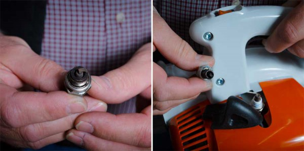 Check your spark plugs on your leaf blower!