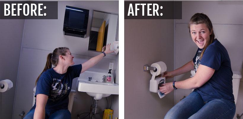 Keep bathroom wipes at hand!
