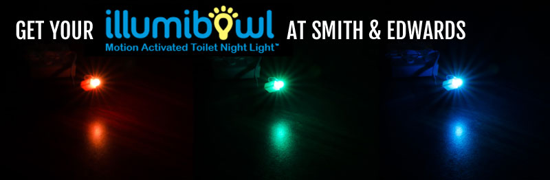 Your Illumibowl's waiting for you at Smith & Edwards - in fun LED colors!
