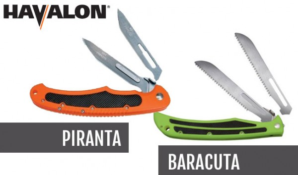 Havalon's Piranta and Baracuta knives