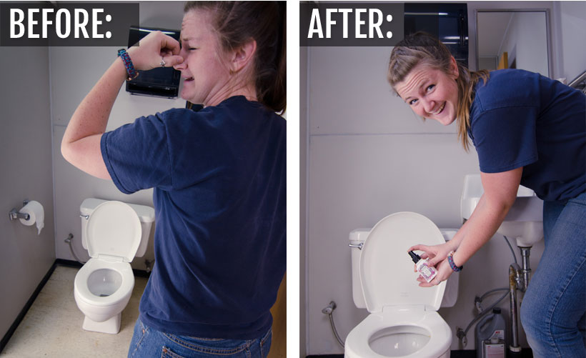 Before & after: Spray Poo-Pourri and no one will know!