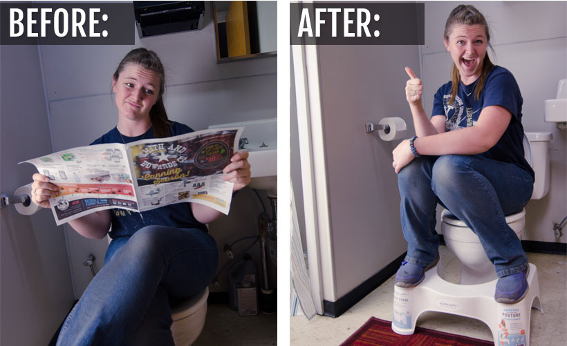 Before & after: Squatty Potty