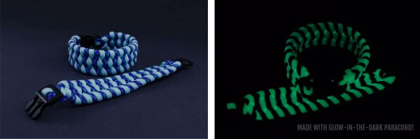 Finished Boa or Trilobite Bracelet - that glows in the dark!