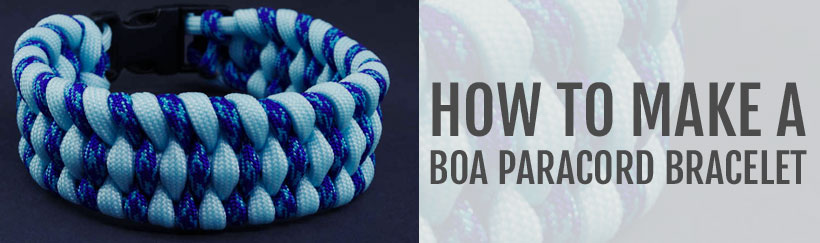 How to make a Boa Paracord Bracelet (also called Trilobite Bracelet)