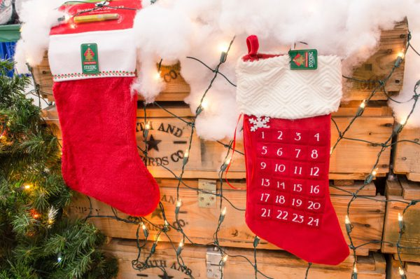 Count down to Christmas with this Advent Calendar stocking!