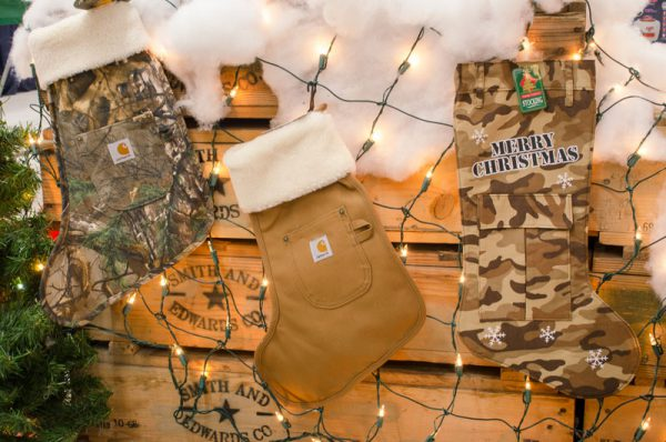 Military Camo & real Carhartt Christmas stockings