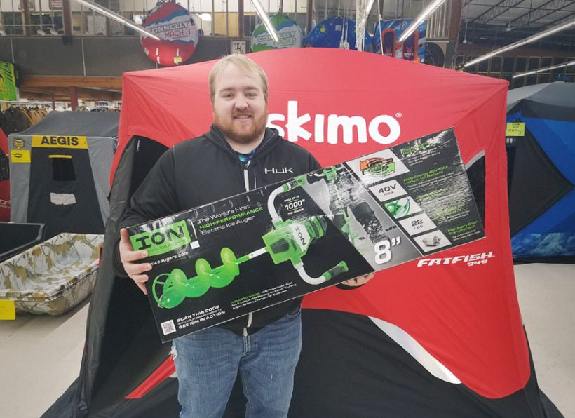 Chris recommends this powerful ION Electric Ice Fishing Auger...
