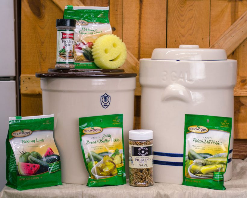 Everything you need for making pickles at home - you can find it all at Smith & Edwards!