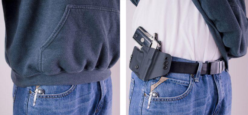 OWB Sig P238 CarryMeGear handmade holster