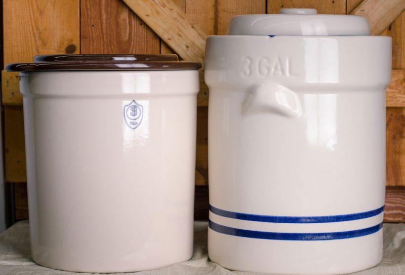 Three gallon pickling crock vs Three gallon fermentation crock