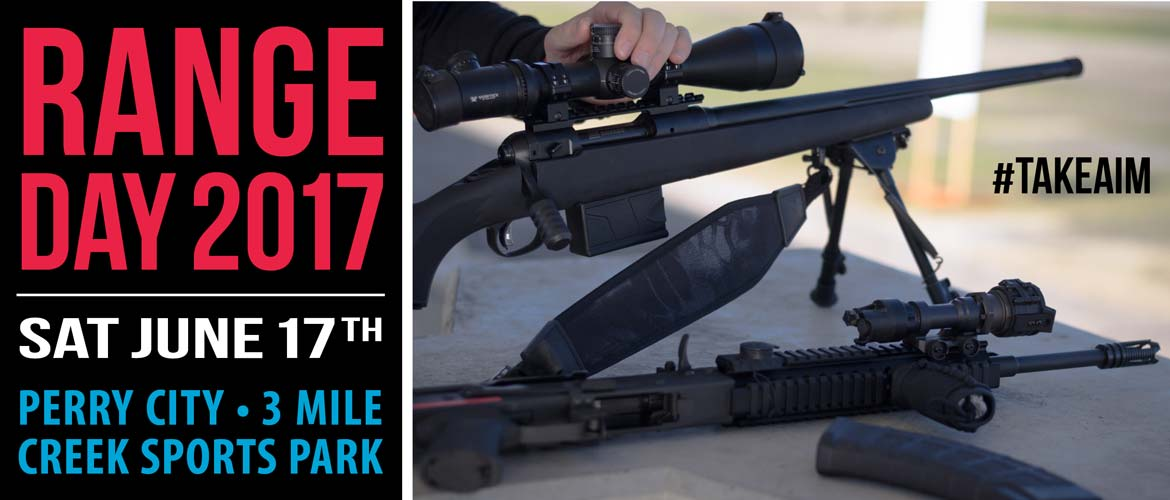 Come to Range Day 2017 at the Perry Three Mile Creek Range on Saturday, June 17!