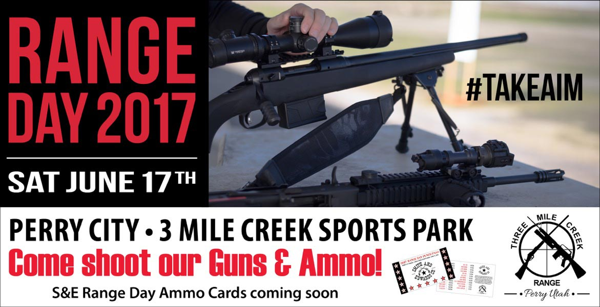 Range Day 2017 is June 17th at the Perry Three Mile Creek Range