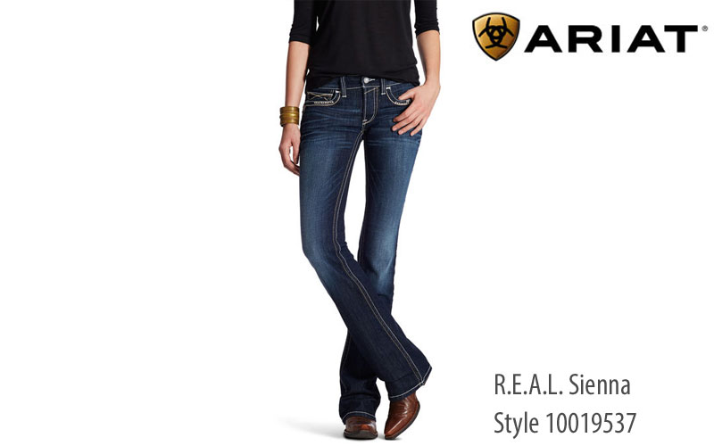 Ariat Womens REAL Sienna mid-rise jeans