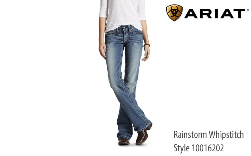 Ariat Womens REAL Whipstitch mid-rise jeans