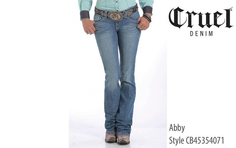 Cruel Abby women's midrise jeans