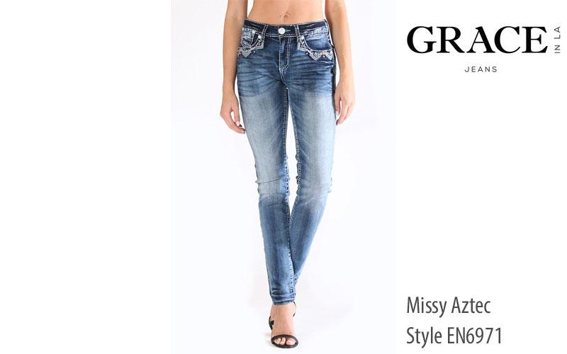 Grace in LA womens' Aztec skinny JeansWomen's Aala Skinny Jeans