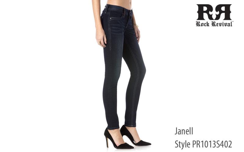 Rock Revival women's Janell low rise jeans