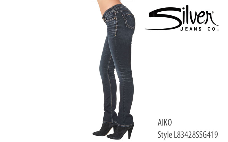 Silver Aiko straight leg women's jeans L83428SSG419