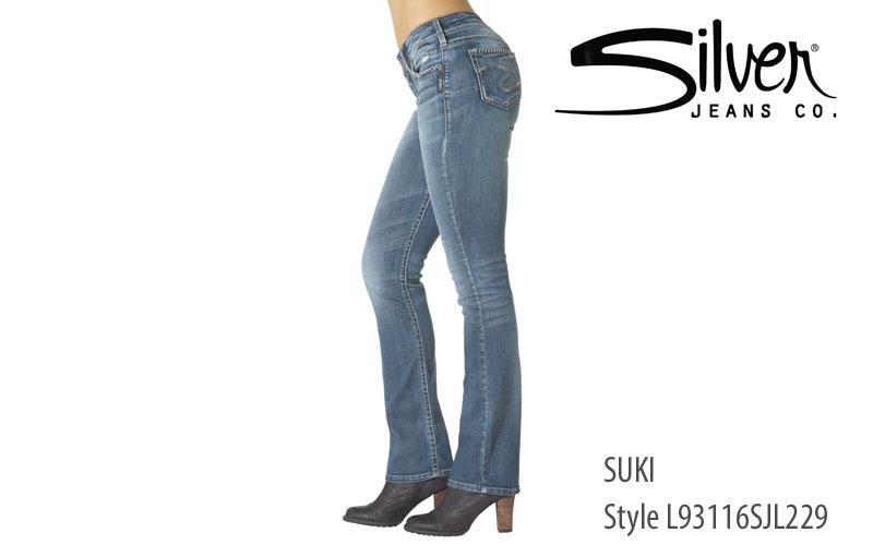 Silver women's Suki bootcut jeans