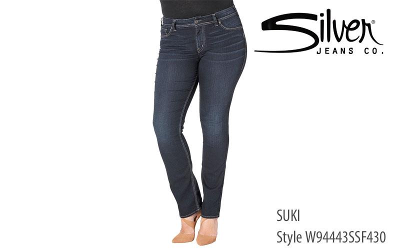 Silver plus Suki straight leg W94443SSF430