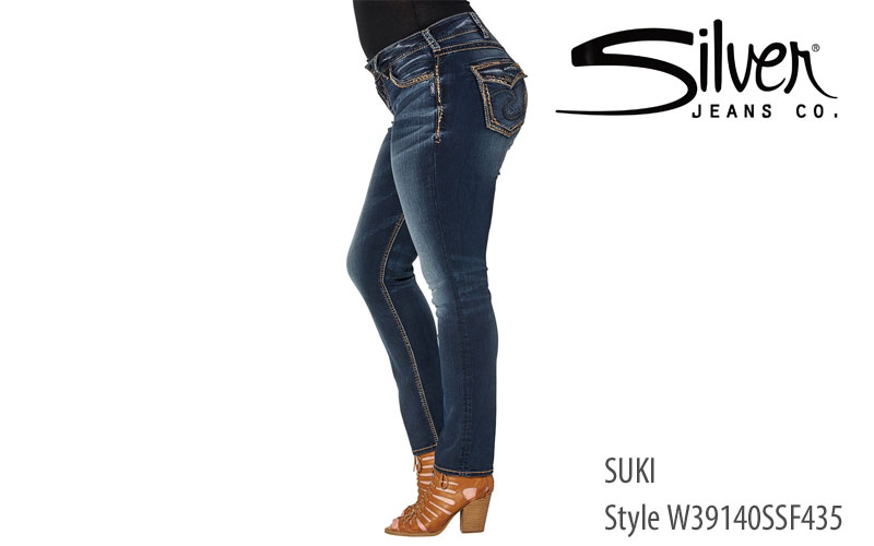 Silver Plus Womens' Suki Relaxed Fit jeans