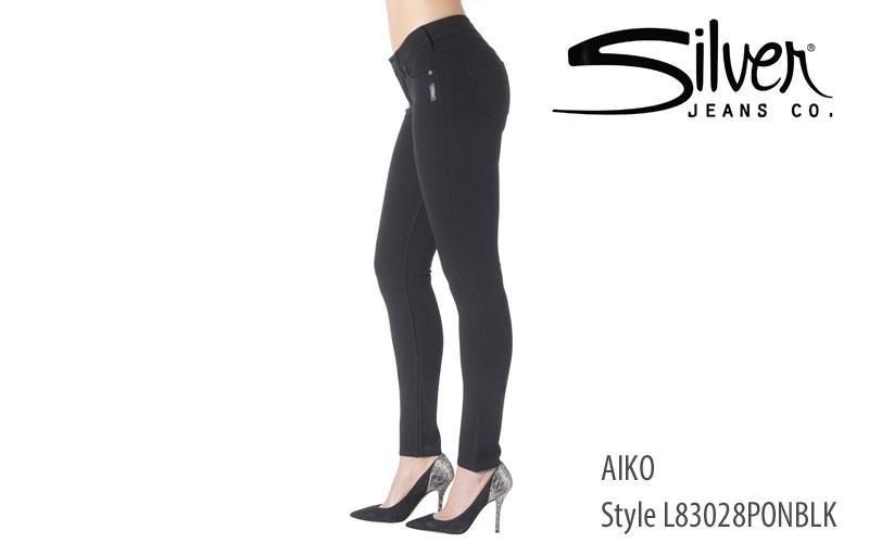 Silver women's Aiko midrise jeans (black)