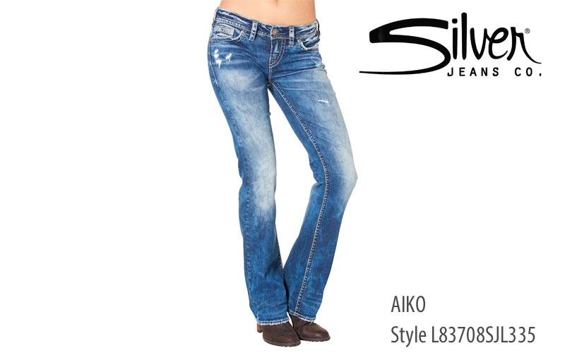 Silver women's Aiko midrise jeans