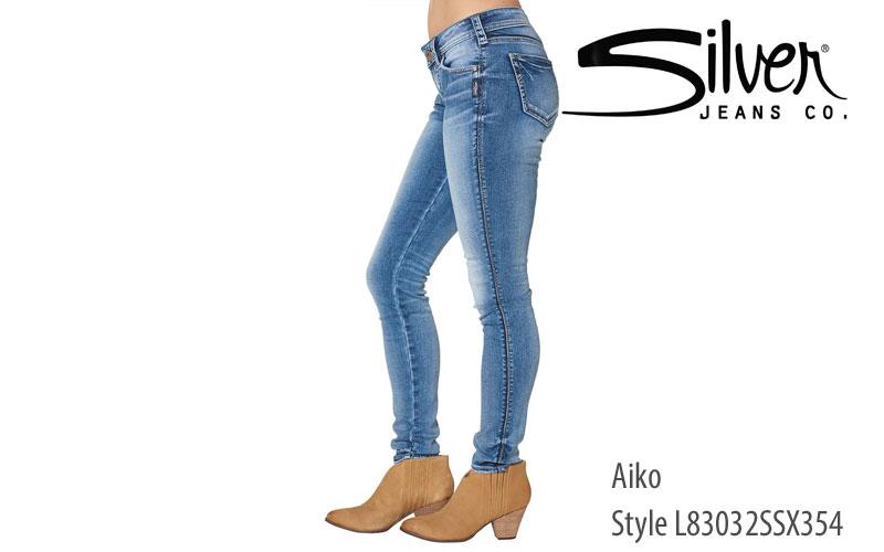 Silver women's Aiko skinny leg jeans