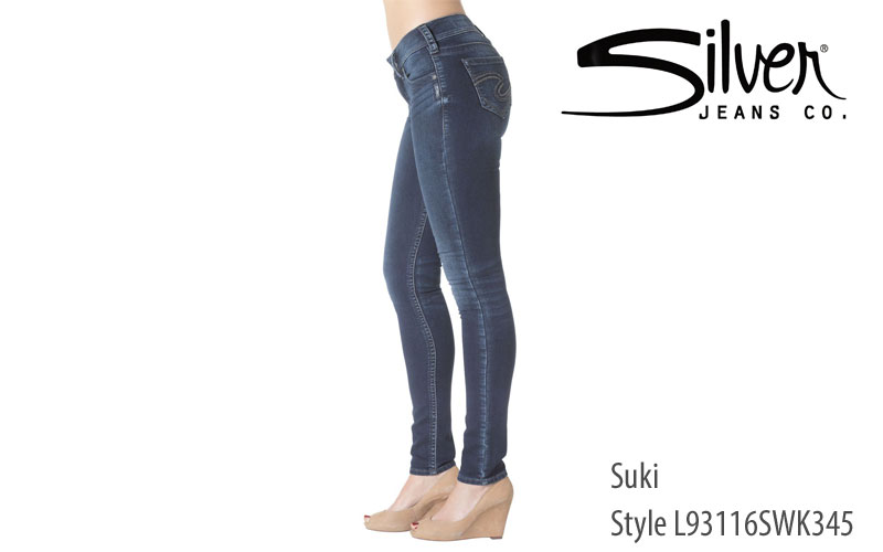 Silver women's Suki skinny leg jeans