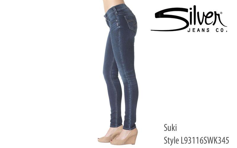 Silver women's Suki slim fit jeans
