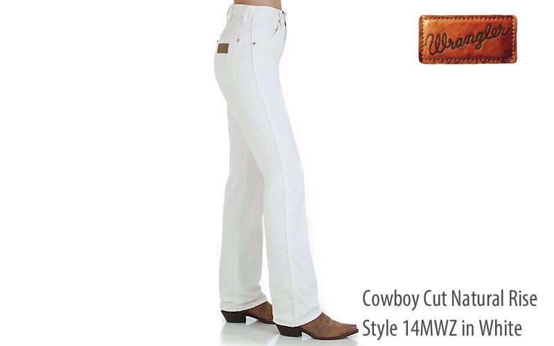 Wrangler 14MWZ white straight leg women's jeans