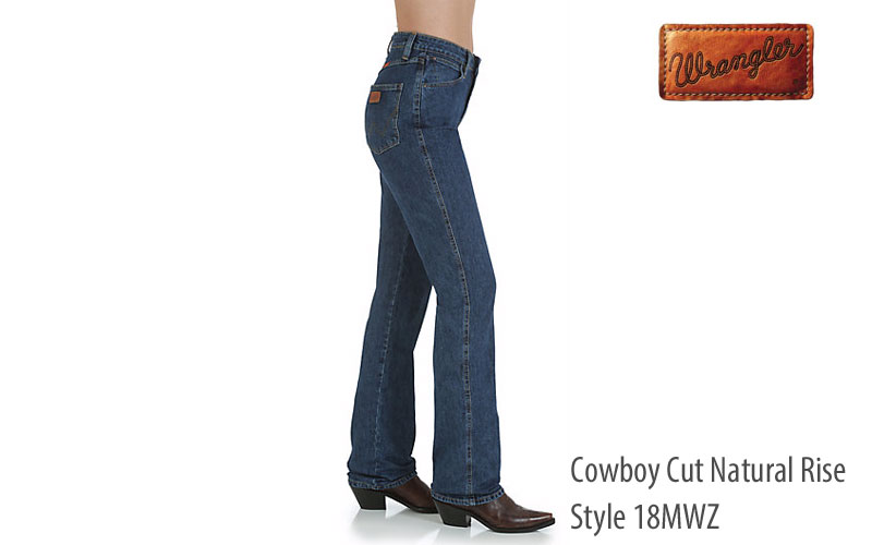 Wrangler 18MWZ Stonewash straight leg women's jeans
